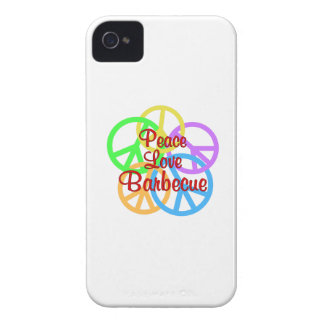 Peace Love Barbecue iPhone 4 Case-Mate Cases
