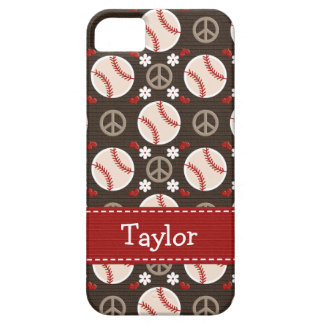 Peace Love Baseball Case For The iPhone 5
