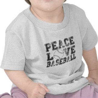 Peace, Love, Baseball Style 2 Tshirt
