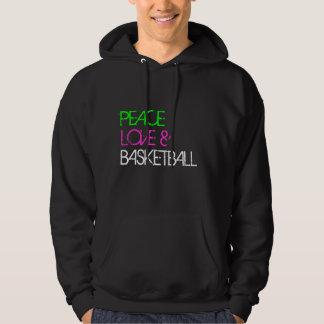 PEACE, LOVE & BASKETBALL HOODIE