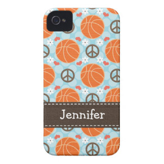 Peace Love Basketball iPhone 4 4s Case-Mate Cover