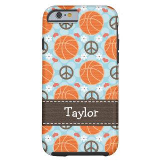 Peace Love Basketball iPhone 6 Tough Cov Tough iPhone 6 Case