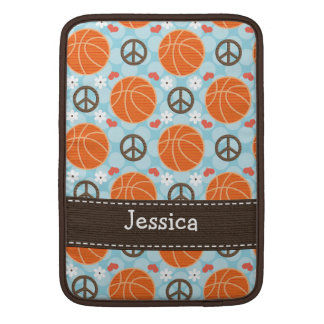 Peace Love Basketball Macbook Air Sleeve 13 and 11