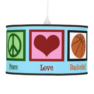 Peace Love Basketball Pendant Lamp