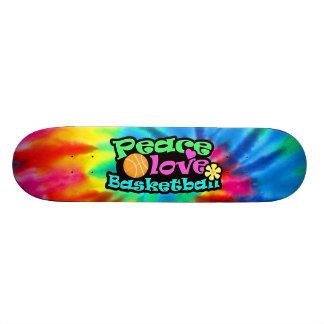 Peace, Love, Basketball; Retro Custom Skate Board