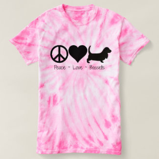 Peace Love Basset Hound 1 T-shirt