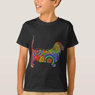 """""""Peace Love & Basset Hounds"""" Pop Art Kids Tee"""