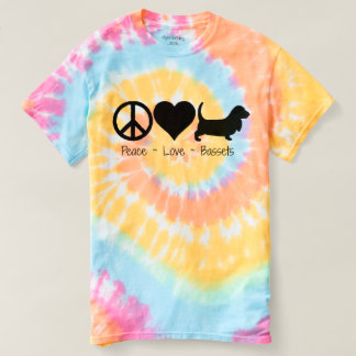 Peace Love Basset Hounds T-shirt