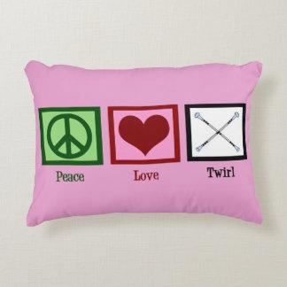 Peace Love Baton Twirl Decorative Pillow
