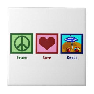 Peace Love Beach Tile