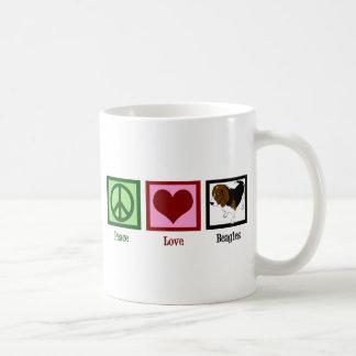 Peace Love Beagles Coffee Mug