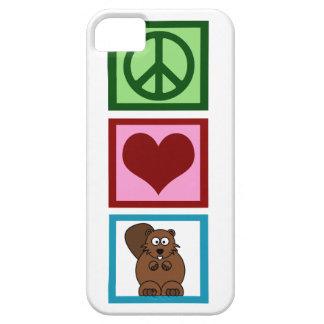 Peace Love Beavers iPhone 5 Cases
