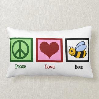 Peace Love Bees Lumbar Pillow