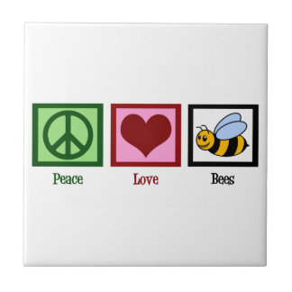 Peace Love Bees Tile