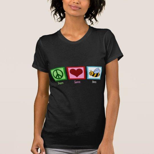 Peace Love Bees Women's Dark T-Shirt