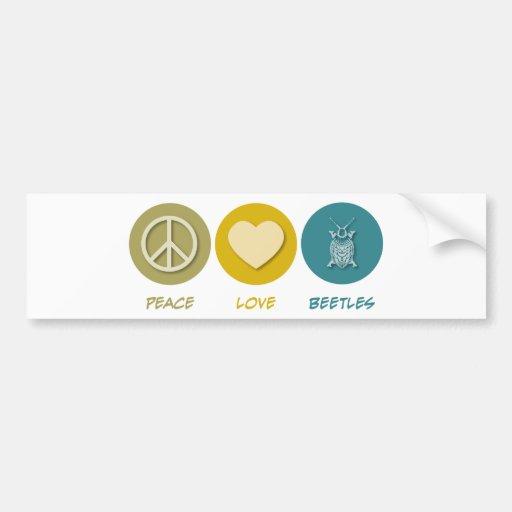 Peace Love Beetles Bumper Stickers