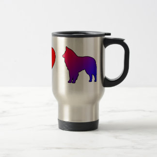 Peace Love Belgian Sheepdogs Travel Mug
