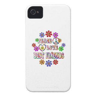 Peace Love Best Friends iPhone 4 Covers
