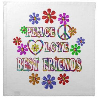 Peace Love Best Friends Napkin