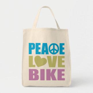 Peace Love Bike Canvas Bag