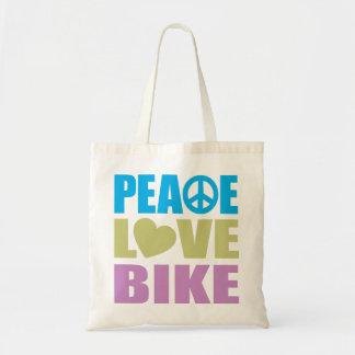 Peace Love Bike Tote Bag