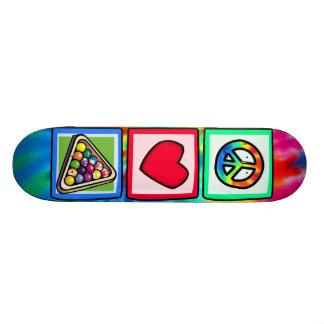 Peace, Love, Billiards Custom Skate Board