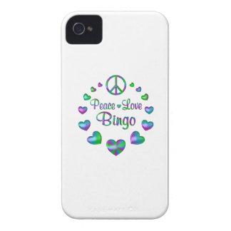 Peace Love Bingo iPhone 4 Case-Mate Case