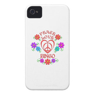 Peace Love Bingo iPhone 4 Cases