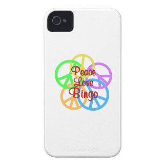 Peace Love Bingo iPhone 4 Cover
