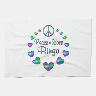Peace Love Bingo Kitchen Towel