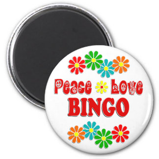 Peace Love Bingo Magnet
