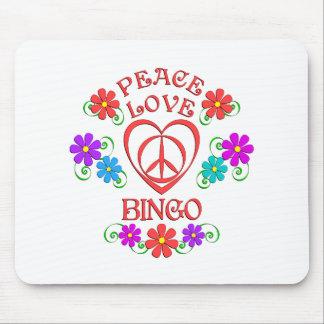 Peace Love Bingo Mouse Pad