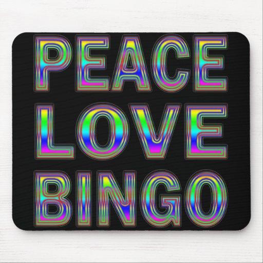 PEACE LOVE BINGO MOUSE PADS