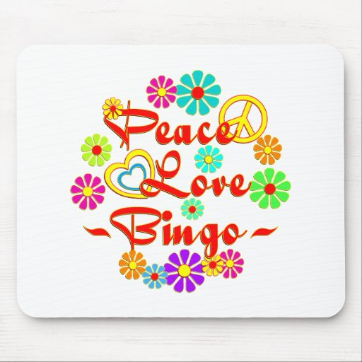 PEACE LOVE Bingo Mousepads