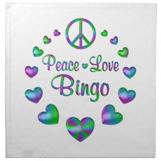 Peace Love Bingo Napkin