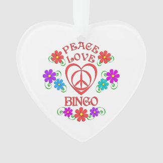 Peace Love Bingo Ornament