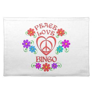 Peace Love Bingo Placemat