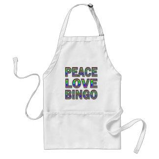 PEACE LOVE BINGO STANDARD APRON