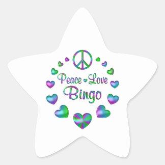 Peace Love Bingo Star Sticker