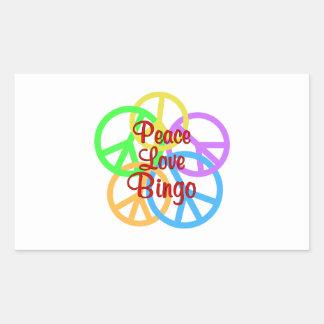 Peace Love Bingo Sticker