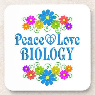 Peace Love Biology Coaster