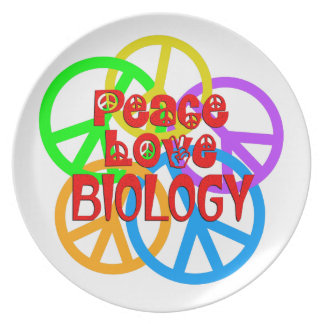Peace Love Biology Dinner Plate