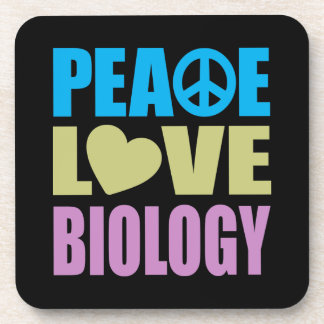 Peace Love Biology Drink Coaster