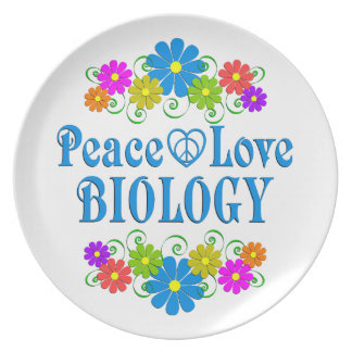 Peace Love Biology Plate