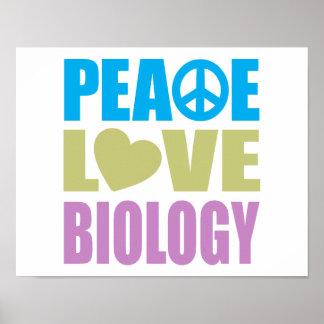 Peace Love Biology Print