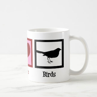 Peace Love Birds Coffee Mug