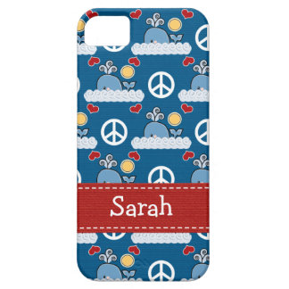 Peace Love Blue Whale iPhone 5 Cases