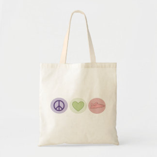 Peace Love Boats Tote Budget Tote Bag