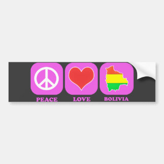 Peace Love Bolivia Bumper Sticker