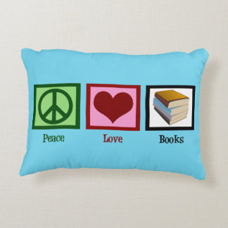 Peace Love Books Accent Pillow